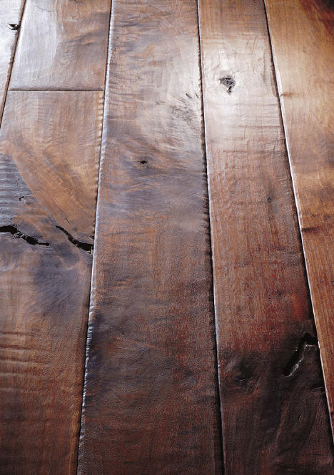 Walnut Plank Floor From Birger Juell The Hand Sculpted