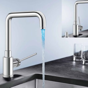 LED Faucet Blancomaster Ilux from Blanco – no electrical connection is required