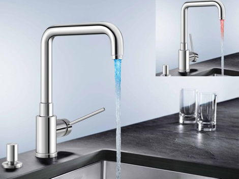 blailu281 LED Faucet Blancomaster Ilux from Blanco   no electrical connection is required