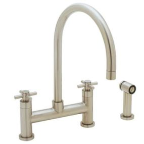 Blanco Kitchen Faucet – the new Meridian Bridge faucet with side spray (157-134-ST)