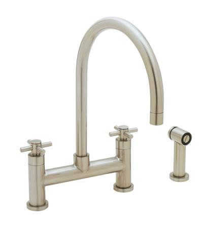 Blanco Kitchen Faucet The New Meridian Bridge Faucet With Side - Bridge faucets for kitchen