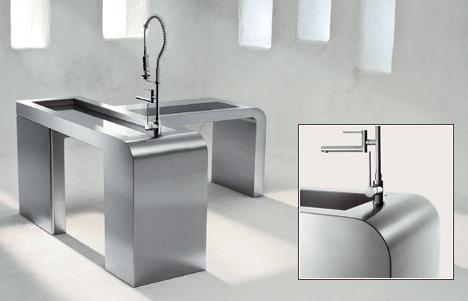 blanco steel worktop system Steelart stainless steel worktop systems from Blanco   the art of steel