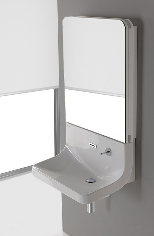 blend 1 Sink Mirror Combo by Sanindusa   Blend