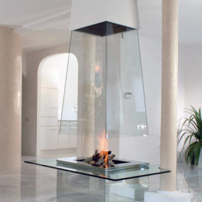 Glass Fireplace by Bloch-Design