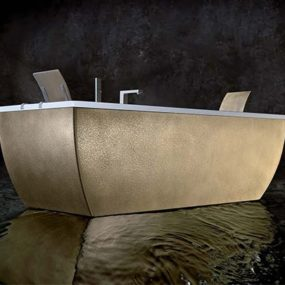 Metal Bathtub from Blubleu – new Kali Metal collection