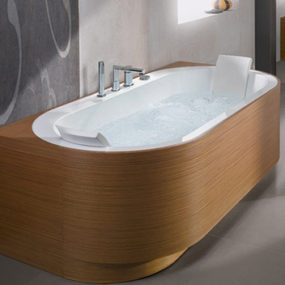 Whirlpool Bathtubs from BluBleu – new Yuma Art, Kyra Art and Naja Art bathtubs