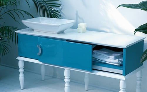 blue bathroom furniture ypsilon doll 1 Blue Bathroom Furniture by Ypsilon – Doll