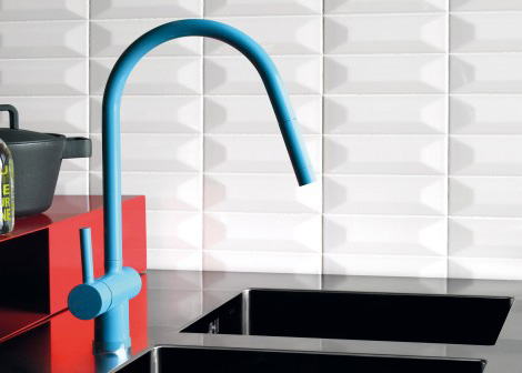 Red Kitchen Faucet By Zucchetti