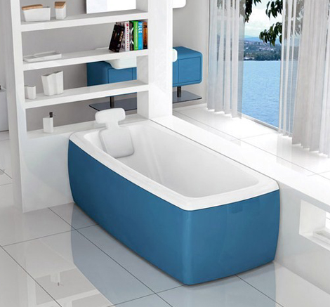 Colored Bathtubs by Blubleu  Lucky Color bathtubs