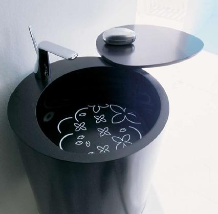 Degree sink in black