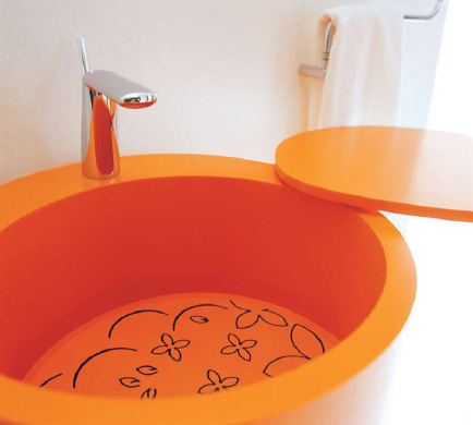 bmood bathroom degree 8 Colorful Modern Bathroom Sink from Bmood   Degree Lavabo 155° sink