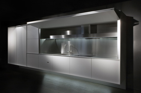 boffi kitchen on off 2 Fully Enclosed Kitchen from Boffi   new On / Off kitchen