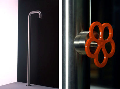 boffi pipe floor mounted shower Pipe floor mounted shower from Boffi   an industrial style shower design