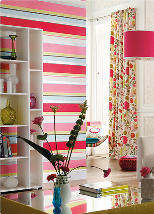 bold stripe wallpaper tapeten agentur 1 Bold Stripe Wallpaper by Tapeten Agentur