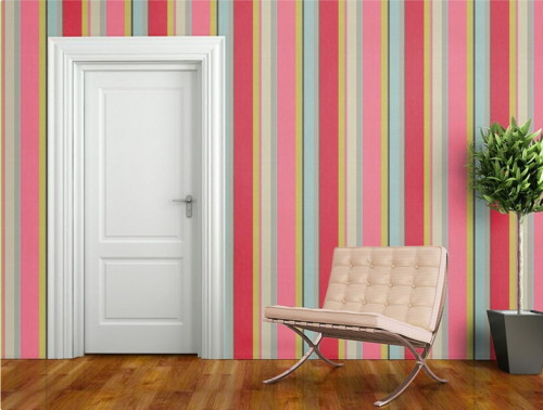 bold striped wallpaper tapeten agentur 1 Bold Stripe Wallpaper by Tapeten Agentur