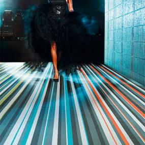 Spektra Woven Vinyl Flooring by Bolon is durable and dynamic!
