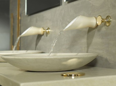 bongio faucet soffi 1 Murano Glass Faucets with a touch of Gold   Bongio Soffi Gold Fever Edition