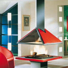 Modern Fireplaces from Bordelet – daring, colorful