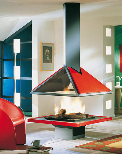 bordelet fireplace amilia Modern Fireplaces from Bordelet   daring, colorful