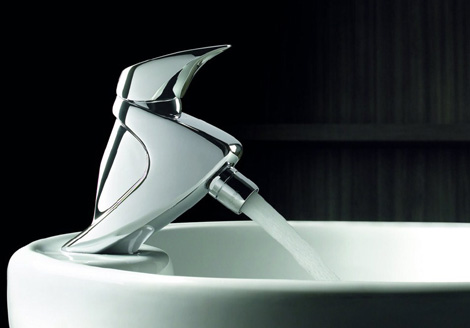 borras faucet terra 2 Minimalist Commercial Style Bathroom Faucets by Borras