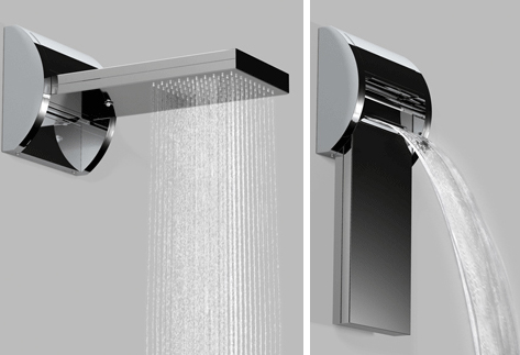 bossini shower aquavolo Waterfall Shower becomes Rain Shower in one flip!