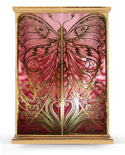 brass armoire koket mademoiselle 1 Brass Armoire by Koket   Mademoiselle