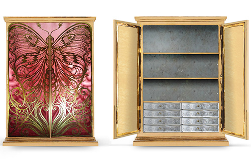 Brass Armoire Koket Mademoiselle 3 Amazing Pictures