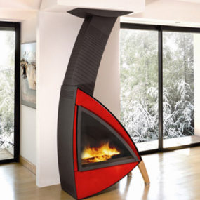 Design Wood Fireplace from Brisach – Oakland Wall Fireplace