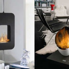 Zephyr and 'Burn Out' Ethanol Fireplaces by Brisach