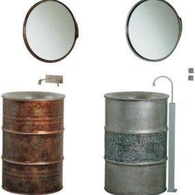 Metal Barrel Sink – the Kyle pedestal sink from Bristol and Bath