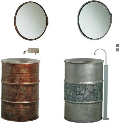 bristol and bath scale bathroom collection Metal Barrel Sink   the Kyle pedestal sink from Bristol and Bath