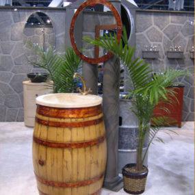 Bristol & Bath new Vanity – the Wine Barrel Vanity