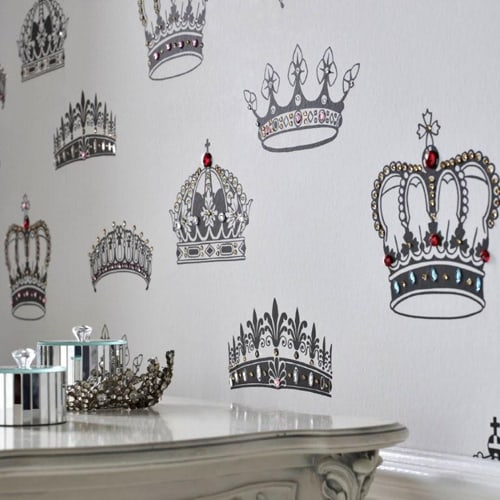 british designer wallpaper crowns and coronets 3