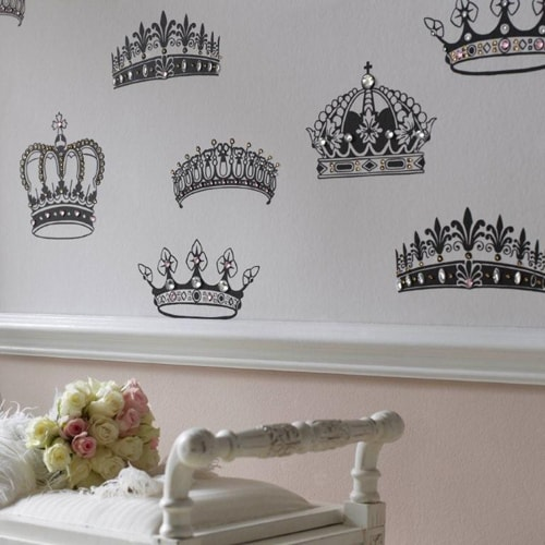 british designer wallpaper crowns and coronets 4