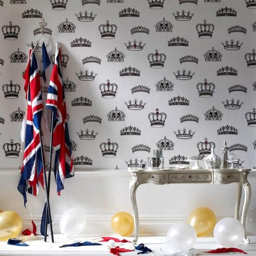 british designer wallpaper crowns and coronets 5