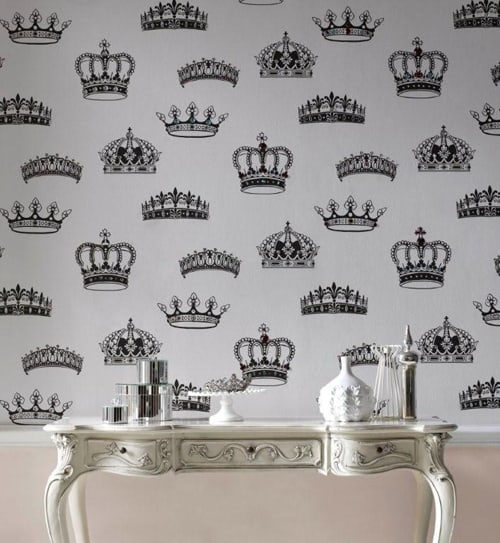 british designer wallpaper crowns and coronets 6