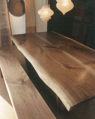 broadbent black walnut slab dining table top