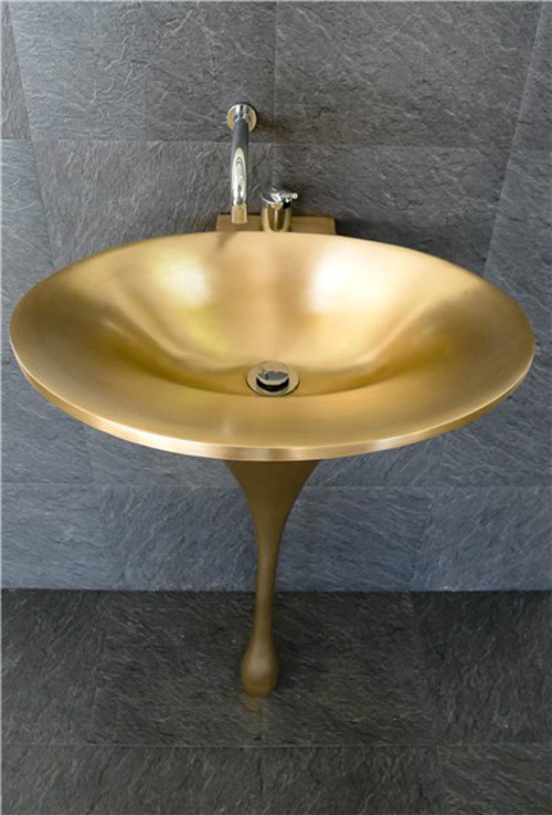 bronze sink spoon philip watts design 1 Stunning Bathroom Sink by Philip Watts Design