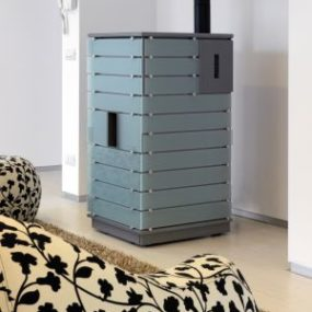 Decorative Pellet Stove by Buderus