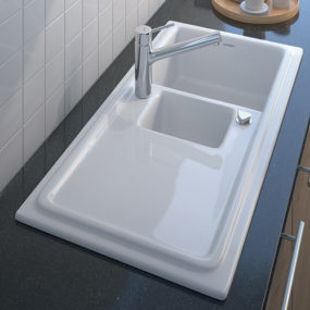 Built-in Ceramic Kitchen Sink by Duravit – new Cassia