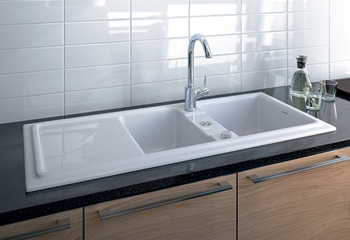 built in ceramic kitchen sinks duravit cassia duraceram 2 Built in Ceramic Kitchen Sink by Duravit   new Cassia