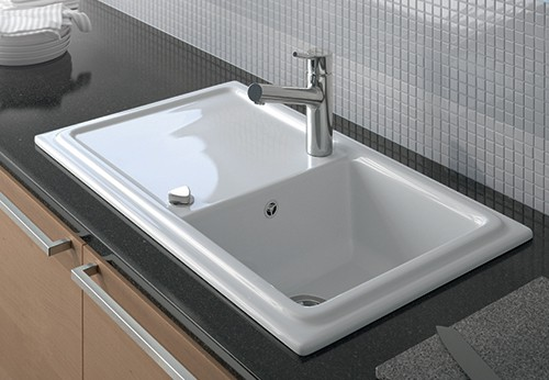 Built In Ceramic Kitchen Sinks Duravit Cia Duraceram