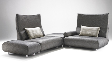 casual contemporary sofa from bullfrog design. Black Bedroom Furniture Sets. Home Design Ideas