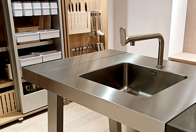 Bulthaup B2 kitchen island sink