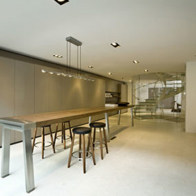 Open Plan Kitchen Living Space Goes Beyond Kitchen, at Bulthaup