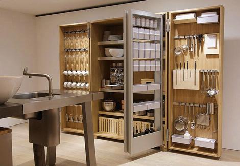 Bulthaup B2 kitchen organizer open