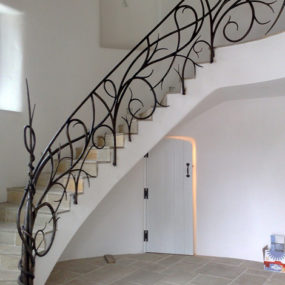 Hand Forged Iron Railings – custom staircase designs by Bushy Park Ironworks
