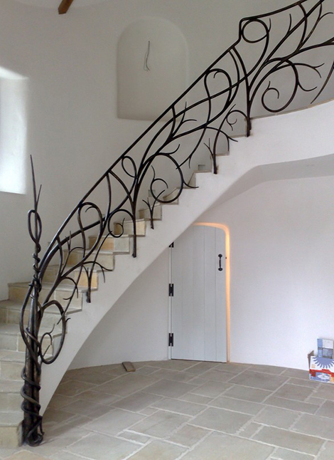 Bushy Hand Forged Iron Railings Hand Forged Iron Railings Custom Staircase  Designs By Bushy Park Ironworks