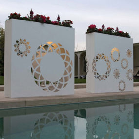 Modern Contemporary Flower Pots – outdoor light up decoration by Bysteel
