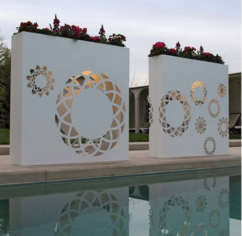 bysteel flower pot tu 1 Modern Contemporary Flower Pots   outdoor light up decoration by Bysteel